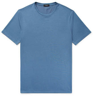 Theory Clean Silk And Cotton-Blend T-Shirt