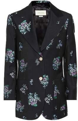 Gucci Flowers fil coupé blazer