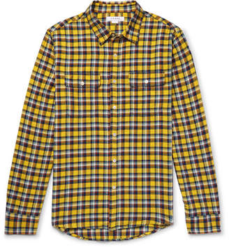 Frame Wowona Checked Cotton-Flannel Shirt