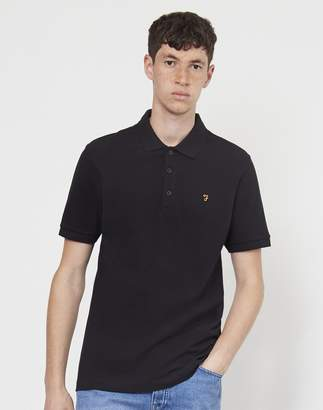 Farah Blaney Short Sleeve Polo Shirt Black