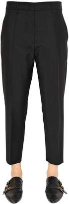 Jil Sander Cropped Stretch Wool Pants