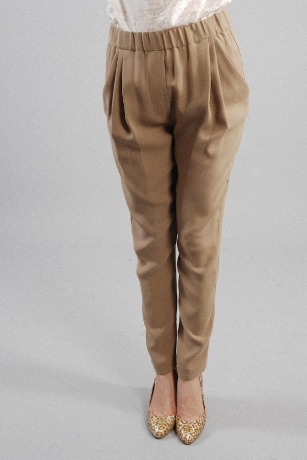 3.1 Phillip Lim Draped Tapered Trouser In Khaki