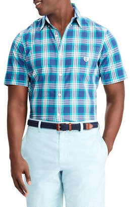 Chaps Big and Tall Plaid Short-Sleeve Sport Shirt