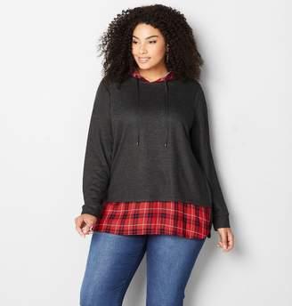 d5c0e8017da Avenue Gray Plus Size Sweatshirts - ShopStyle