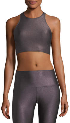 Onzie Peek-A-Boo Metallic Racerback Sports Bra