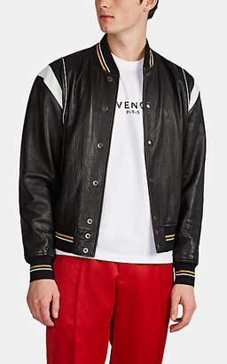 Givenchy Men's Leather Baseball Jacket - Black