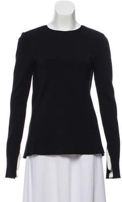 Rosetta Getty Ribbed Cutout Sweater