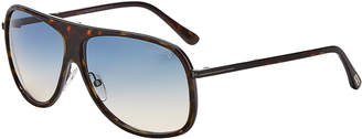 Tom Ford TF462 Chris Tortoiseshell-Look Aviator Sunglasses