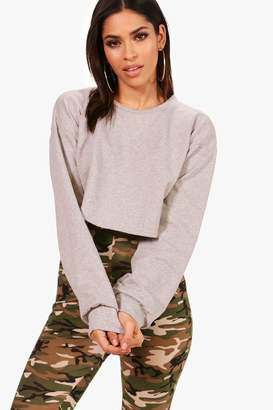 boohoo Balloon Sleeve Oversized Sweatshirt