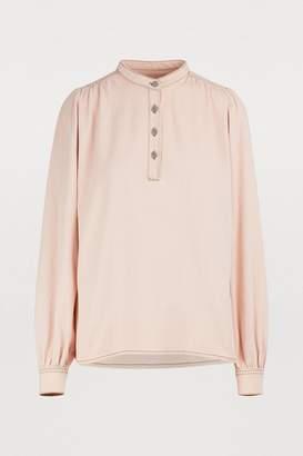 Ganni Trinity denim blouse