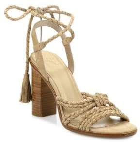 190811c485a Joie Banji Lace-Up Suede Block Heel Sandals