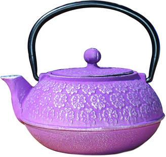 Old Dutch 22Oz Plum Cast Iron Cherry Blossom Teapot
