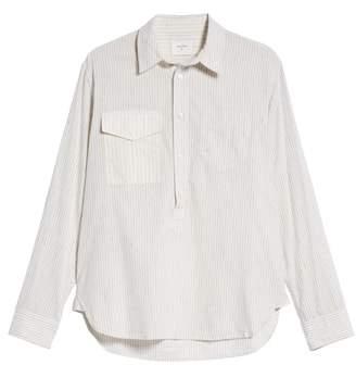 Billy Reid Stripe Popover Sport Shirt