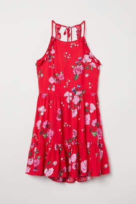 H&M Open-backed Dress - Red
