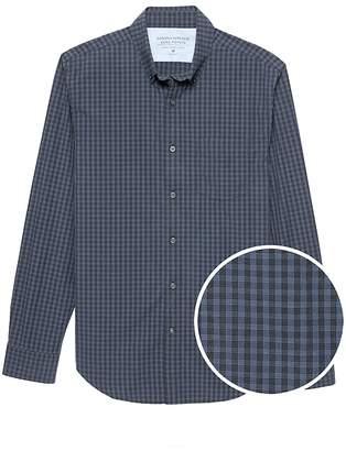 Banana Republic Grant Slim-Fit Luxe Poplin Grid Shirt