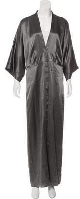 Michelle Mason Satin Evening Dress