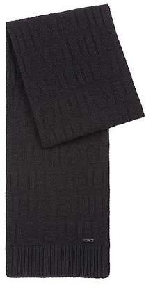HUGO BOSS Reverse-logo beanie hat and scarf gift set