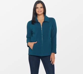 Denim & Co. Fleece Long-Sleeve Zip-Front Jacket