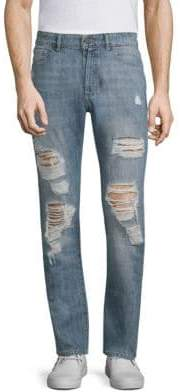 DL Premium Denim Cooper Distressed Cotton Skinny Jeans