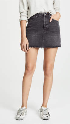 Free People Rugged A-Line Denim Skirt