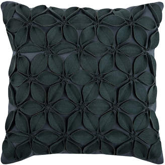 "Rizzy Home 18"" x 18"" Botanical Petals Poly Filled Pillow"