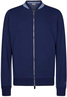 Canali Contrast Knit Sweater