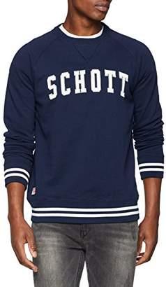 Schott NYC Men's SWNOAH2 Hoodie, Blue Navy, X-Large