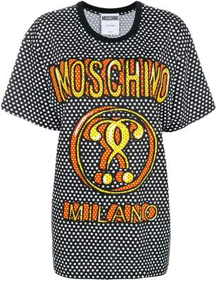 Moschino oversized polka dot T-shirt