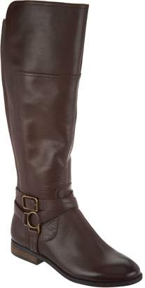 Marc Fisher Wide Calf Leather Tall Shaft Boots - Aliza