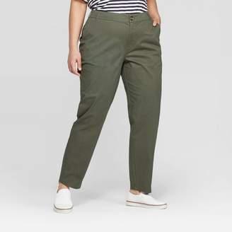 Ava & Viv Women's Plus Size Slim Fit Chino Pants