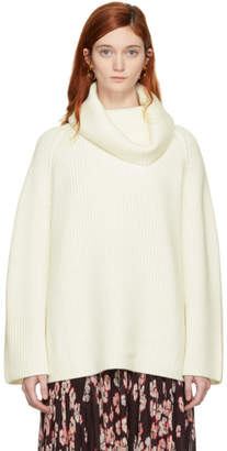 Chloé Off-White Oversized Long Turtleneck
