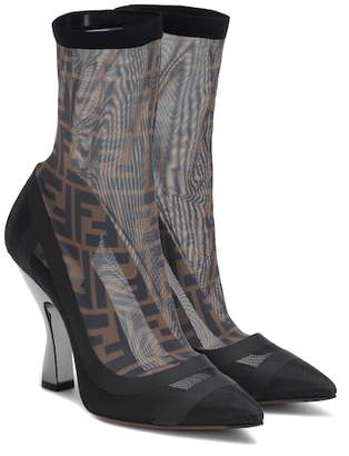 Fendi Satin ankle boots