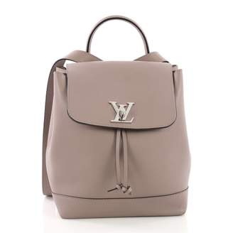 Louis Vuitton Lockme Purple Leather Backpacks