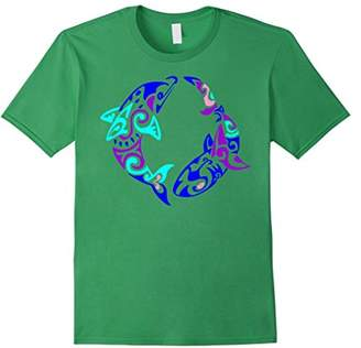 The Maori Dolphin T Shirt Traditional Art Symbols Animal