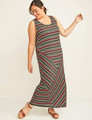 Lane Bryant LIVI Active Striped Maxi Dress