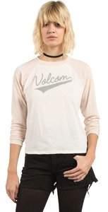 Volcom Women's True to This Long Sleeve Baseball Raglan Top