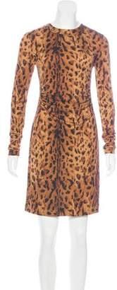 Tory Burch Silk Leopard Print Dress