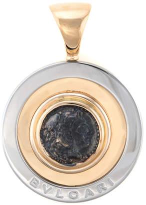 Bulgari Heritage  Ancient Coin 18K & Stainless Steel Pendant