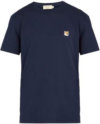MAISON KITSUNÉ Fox-embroidery cotton T-shirt