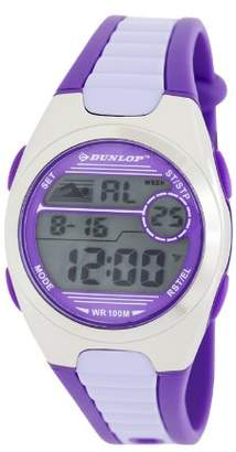 Dunlop Women's Digital Watch with LCD Dial Digital Display and Purple Plastic or PU Strap DUN-194-M09