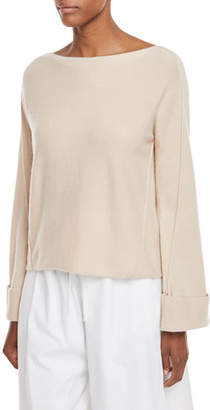 Vince Twisted-Seam Wool-Cashmere Pullover Sweater