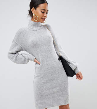 Fashion Union Tall Knitted Dress With Balloon Sleeves