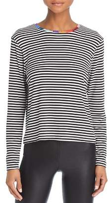 Splendid x Margherita Colore Color-Block Trim Striped Tee