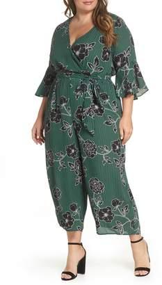 City Chic Floral Print Jumpsuit