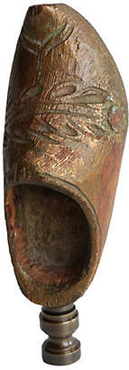 One Kings Lane Vintage Primitive Wood Clog Lamp Finial - Pythagoras Place