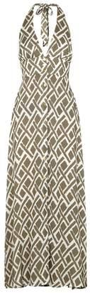 Heidi Klein Cote D'Azur Halterneck Maxi Dress