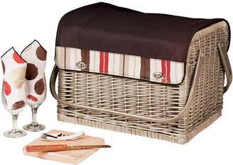Picnic Time Kabrio-Moka Wine Basket - Service for 2