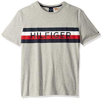 Tommy Hilfiger Men's Adaptive T Shirt with Magnetic Buttons at Shoulders