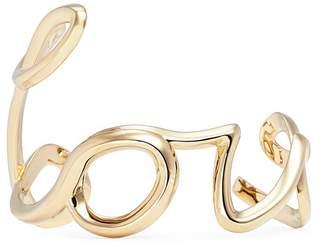Chloé 'Love' cursive lettering cuff