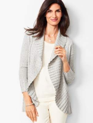 Talbots Donegal Open-Front Cardigan